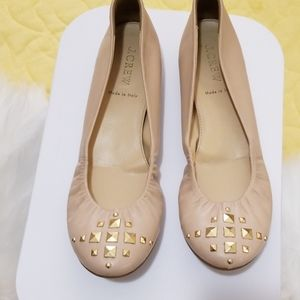 J. Crew leather ballet flats size 8. Made in Italy